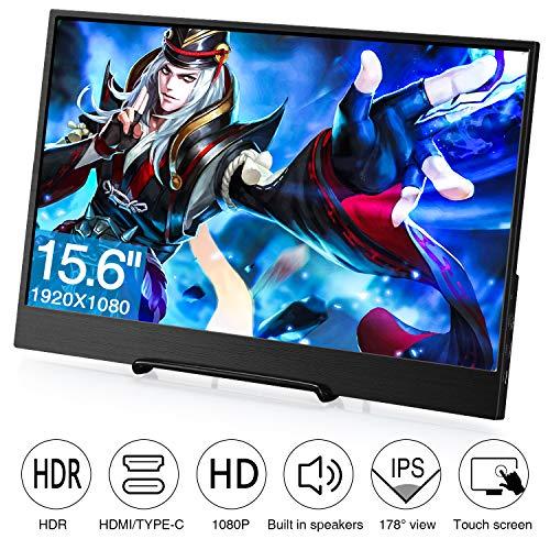 Koolertron 15.6' Moniteur Écran HDR IPS 1080p HDMI 4mm Ultra-Mince,...