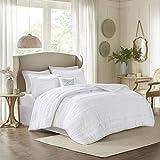 Madison Park Celeste 5 Piece Comforter Set, White, Cal King, California