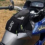 JFG RACING Moto magnétique Sacoche de réservoir–étanche Oxford Moto Bagages Sacs avec magnétique Solide, Plus Grande fenêtre–Universel pour Honda Yamaha Suzuki Kawasaki Harley BMW Ducati