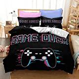 Yumhi Gaver Over Gamepad Playstation 4 Controller Duvet Cover Full Bedding Sets Bed Without Comforter Coverlet DTN 8