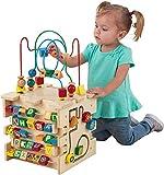 KidKraft 63298 giocattolo educativo in legno per bambini Cubo Attività Deluxe d'identificazione di...