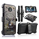 customerfirst for Motorola Moto Z3 Play, Z Play 3rd Generation 2018 Release (XT1929) Full Body Armor Rugged Holster Defender Hybrid Case with 360 Swivel Belt Clip & Built in Screen Protector (CAMO)
