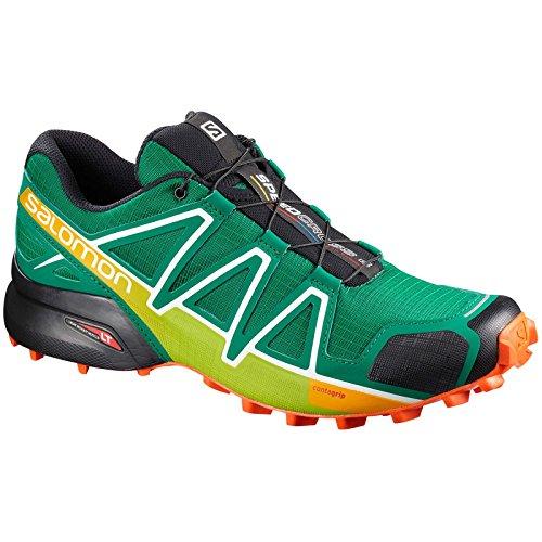 Salomon Speedcross 4, Scarpe da Trail Running Uomo, Verde (Ultra Marine Green/Black/Scarlet Ibi), 42...