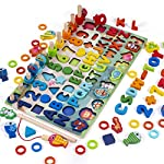 【安全な木のおもちゃ:】高品質の天然無垢材でできており、環境にやさしい水性塗料でコーティングされています。そのすべてのエッジは粗い表面がなく滑らかであるため、完全に無毒で無害であり、子供にとって安全です。 【革新的な学習方法:】子供たちが手と目の協調と彼らの運動能力を高めるのを助ける良い教育ツール。英数字ゲームは子供たちを幸せにするのに十分挑戦的ですが、自信を高めるのに十分簡単です。 【完璧なデザイン:】木製の釣り竿、小動物の数字や文字に合わせたさまざまな色、数字、文字、小動物の数字や文字に磁石...