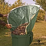 CSDust2 Leaf Collector and Lawn Garden Bag - (Pop Up) Multipurpose Garden Tool, Trash, Waste Collection Bucket | Foldable Dustpan, Reusable Leaf Shaped, Heavy-Duty Tote | Compact Storage Bag
