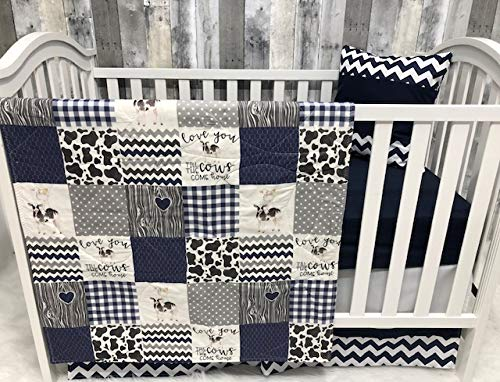 Baby Boy Nursery Bedding, Baby, Farm LIfe, Cow, Chickens, Cowboy, Farmer, Tractor, Baby Bedding, Crib Bedding, Babylooms