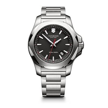 Victorinox Swiss Army I.N.O.X. Stainless Steel Watch, 43mm, Black