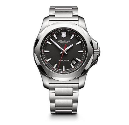 Victorinox Swiss Army I.N.O.X. Stainless Steel Watch, 43mm, Black