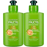 Garnier Fructis Sleek and Shine Intensely Smooth Leave-In Conditioning Cream, 10.2 Ounce (Pack of 2)