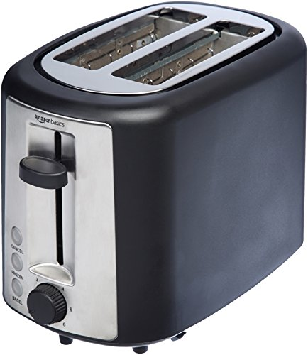 AmazonBasics 2 Slice Extra Wide Slot Toaster - Black