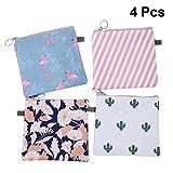 Healifty 4Pcs Sac rangement pour serviettes hygiéniques sac organisateur voyage zipper sac pochette