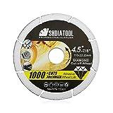 SHDIATOOL 4-1/2 Inch Diamond Metal Cutting Disc for Steel Tube Iron Rebar Angle Steel Vacuum Brazed Cut-Off Wheel Blade