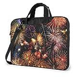 XCNGG Maletín para portátil con Fuegos Artificiales de Año Nuevo, maletín a Prueba de Golpes para Hombres, Mujeres, Bolso de Mano para Tableta, para Oficina de Viaje de 15,6 Pulgadas