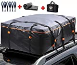 Waterproof Rooftop Cargo Carrier PRO - Heavy Duty Roof Top Luggage Storage Bag with Anti-slip Mat + 10 Reinforced Straps + 6 Door Hooks - Perfect for Car, Truck, SUV With/Without Rack - 19 Cubic Feet