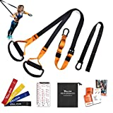Valor Training Bodyweight Resistance Training Straps for Home Exercise with Integrated Door Anchor,...