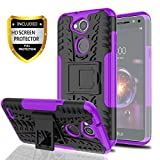 YmhxcY LG X Power 3 Case.LG Fiesta 2 LTE/LG X Charge/LG X Power 2 Case with HD Screen Protector,Military Armor Drop Tested [Heavy Duty] Hybrid Case with Kickstand for LG LV7 (2018)-LT Purple