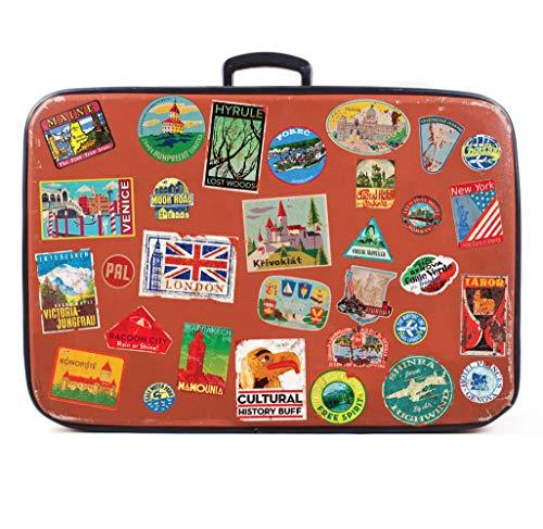 31x Bagage Autocollants valises étiquettes de Voyage Vintage rétro...