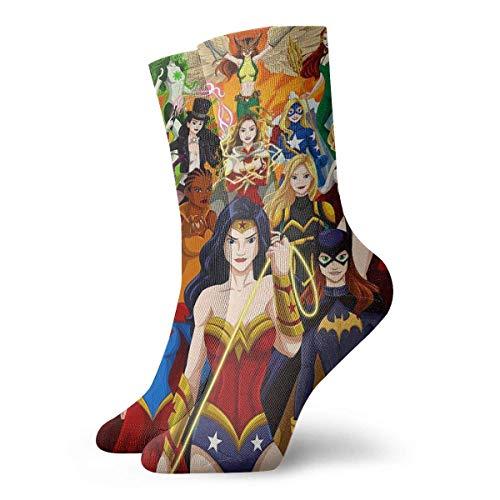 iuitt7rtree Calzini Sportivi per Giovani, Wonder er Woman, SuperGirl, Batgirl, Vixen Crew Socks Calzini da Esterno per Calze Gilrs e da ragazzo7344