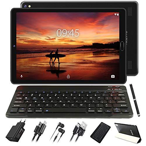Tablet 10 Pollici 4GB RAM 64GB ROM Android 10 Pro GOODTEL Tablets con 8 core 1.6GHz Batteria 8000mAh   Doppia Fotocamera   WiFi   HD IPS   Bluetooth   MicroSD 4-128GB, con Tastiera Bluetooth, Nero