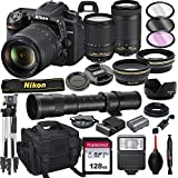 Nikon D7500 DSLR Camera with 18-140mm VR and 70-300mm Lens Bundle with 420-800mm Preset f/8...