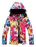 APTRO Women's Mountain Ski Jacket Waterproof Windproof Snowboard Coat Rain Jacket (Red, S)