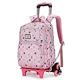 Mochila de viaje con equipaje rodante, maleta con ruedas de gran capacidad, mochila escolar especial para la escuela, adecuada para niños y niñas.-B