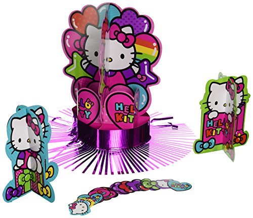 Amscan 281417 Table Decorating Kit   Hello Kitty Rainbow Collection   1 pack (23 pcs)   Party Accessory