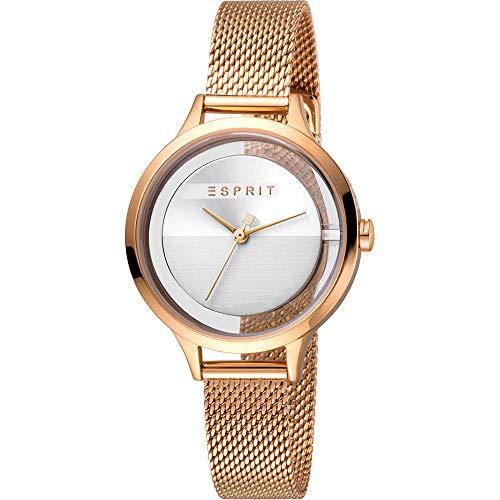 Esprit Damen Analog Quarz Uhr mit Edelstahl Armband ES1L088M0035