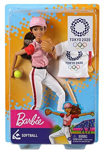 バービー(Barbie) 東京オリンピックライセンス バービー ソフトボールのせんしゅ 東京2020オリンピック 【ドール&アクセサリーセット】 【関節が曲がります】 【着せ替え人形 3才以上】 GJL77
