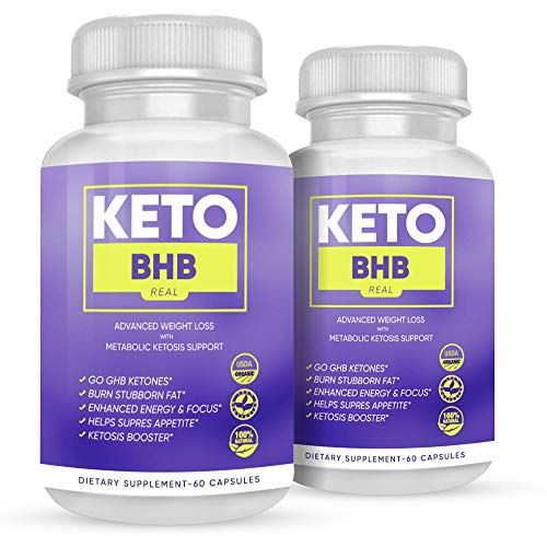 Keto BHB Real Capsules - Keto BHB Real 800 Capsules for Weight Loss - Advanced Keto BHB Capsules Formula with Fat Burning Ketosis (120 Capsules, 2 Month Supply) 1
