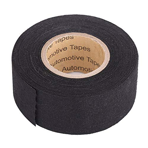 Keenso - Nastro adesivo multiuso per cablaggio auto, anti squittio, in feltro, per cablaggio automobilistico, 32 mm x 11,5 m, colore: nero