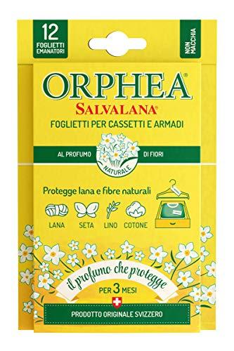 Orphea Salvalana Foglietti per Cassetti e Armadi, 12 Foglietti Emanatori