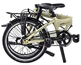 """Dahon Mariner I7 Folding Bike, Lightweight Aluminium Frame 7-Speed Shimano Gears 20"""" Foldable Bicycle for Adults, Cream Color"""