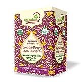 Adanim Bio Eucalyptus Thyme & Mullein Leaf Tea Bags - Organic Gourmet De-Congest Lung Health Respiratory Support Herbal Teas Blend (Pack of 4) Best Breathe Deep