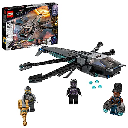 LEGO 76186 Marvel Super Heroes Black Panthers Libelle Spielzeug, Avengers Set mit Black Panther...