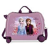 Disney Frozen Nature is magical Maleta Infantil Morado 50x38x20 cms Rígida ABS Cierre combinación 34L 2,1Kgs 4 Ruedas Equipaje de Mano