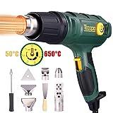 Pistolet à Air Chaud, Pistolet thermique professionnel TECCPO 2000W 240V, 3 régulateurs de température (50...