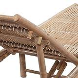 vidaXL Sonnenliege Bambus Gartenliege Pool Liegestuhl Relaxliege Strandliege - 4
