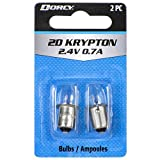 Dorcy 2D-2.4-Volt, 0.7A Bayonet Base Krypton Replacement Bulb, 2-Pack (41-1660)
