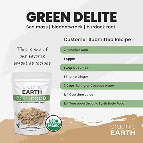 Organic Earth Irish Sea Moss Powder (8 Ounces) Super Cell Body Food - Wildcrafted Irish Sea Moss Bladderwrack Plus Burdock Root Powder - Natural Irish Moss Seaweed - USDA Certified Organic 3