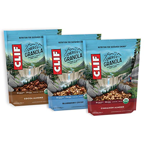 CLIF BAR Organic Gluten Free Granola - 3 Flavor Variety Pack - (10 Ounce Bag, 3 Count)