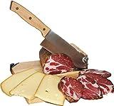 Trancheuse Universelle Guillotine à Saucisson Fromage Charcuterie Toque Chef By Le Berger AFFUTEUR INTEGRE & 6 Couteaux à Steak