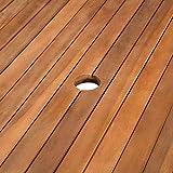 Festnight Garten-Esstisch Rechteckig Esszimmertisch Gartentisch Terassentisch Holz Tisch - 4