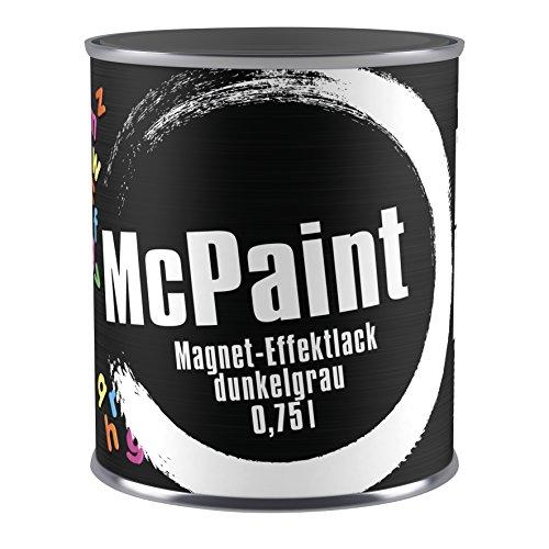 McPaint Magnet-Effektlack  dunkelgrau 0,750L, wasserverdünnbar, geruchsarm, mit starken Effekt