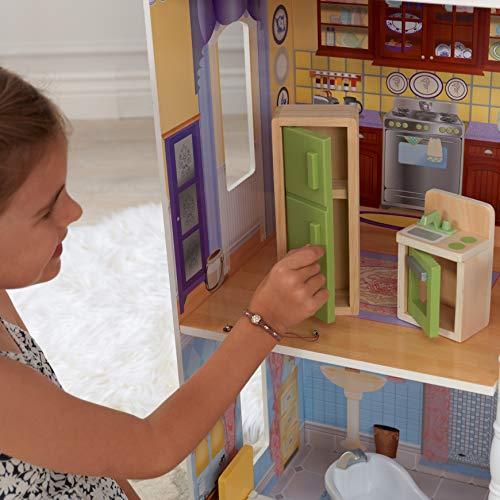 Image 3 - Kidkraft - 65023 - Maison de Poupées en Bois Savannah Incluant Accessoires et Mobilier, 4 Étages de Jeu pour Poupées 30 cm
