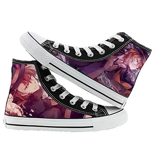 NIEWEI-YI Alpargatas Altas Bungou Stray Dog Anime Zapatos De Lona Hombres Mujeres Zapatos Casuales Zapatos De Viaje Al Aire Libre,43 EU