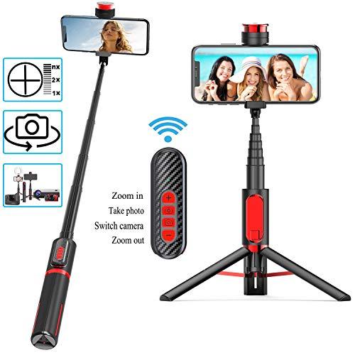 Babacom Perche Selfie Bluetooth Trépied 3 en 1 Bâton de Selfie Pas...