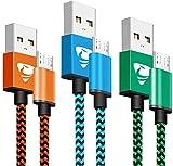 Câble Micro USB [2m / Lot de 3] Câble Chargeur Android Nylon Tressé Chargeur...