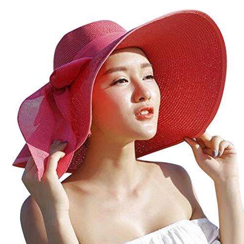 Wolfleague Plage Chapeau en Paille Femme Chapeau De Paille Femme Pliable...