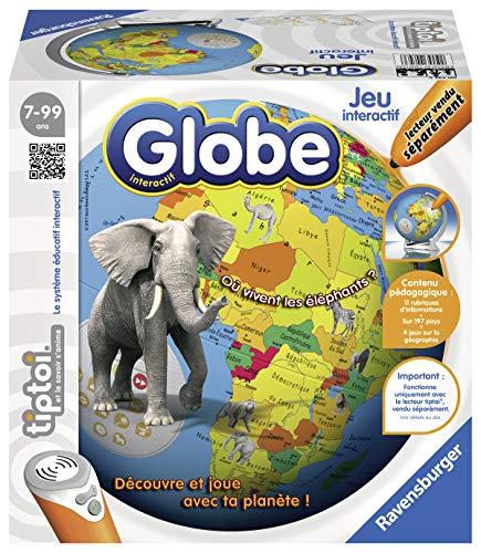 Ravensburger - Jeu électronique interactif tiptoi - Globe interactif - Lecteur tiptoi non inclus - sans écran et en français - Enfants à partir de 7 ans - 00793